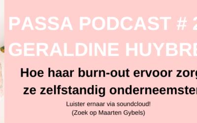 Passa podcast #2 Geraldine Huybrechts